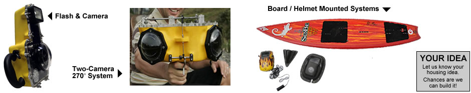 Specialized Systems including board and helmet Cameras